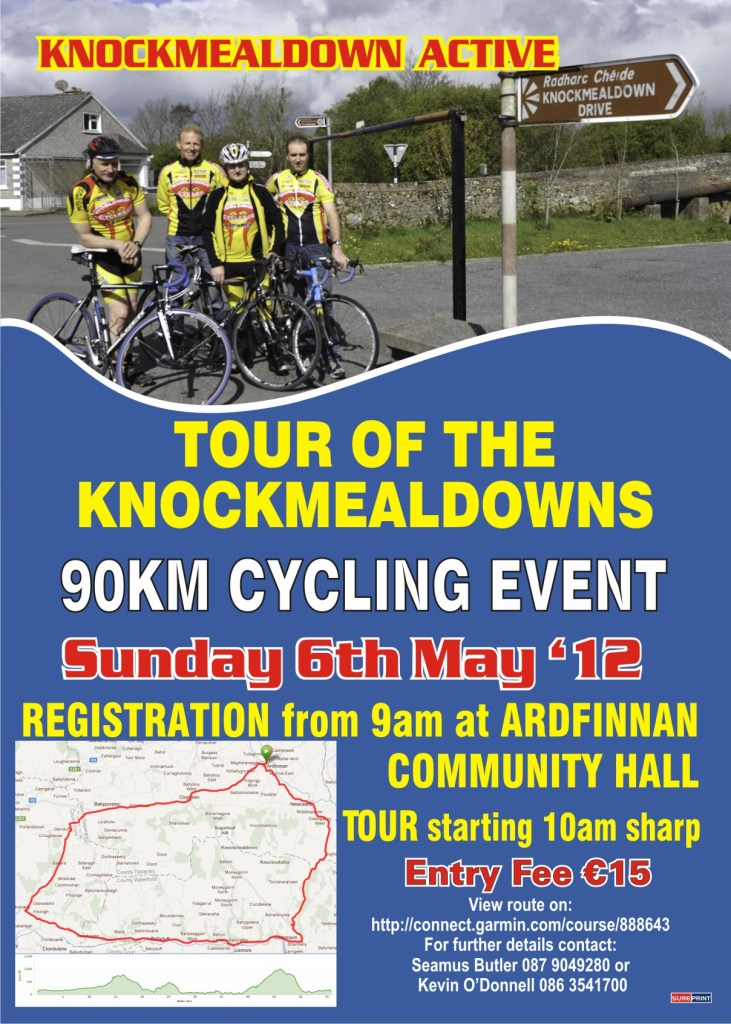 Knockmealdown Active - 90K Cycle May 6th