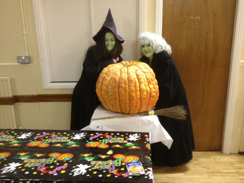 Witches watch the pumpkin