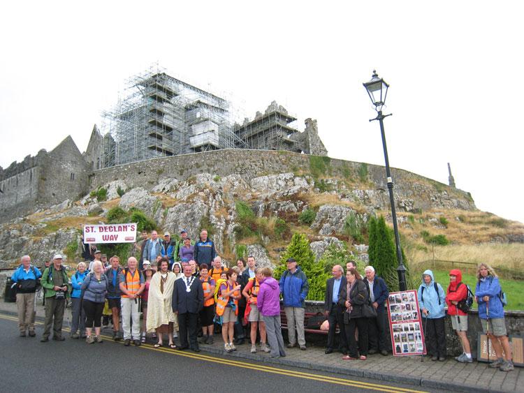 St.-Declan's-Way-Walk-Group-at-Rock-of-Cashel
