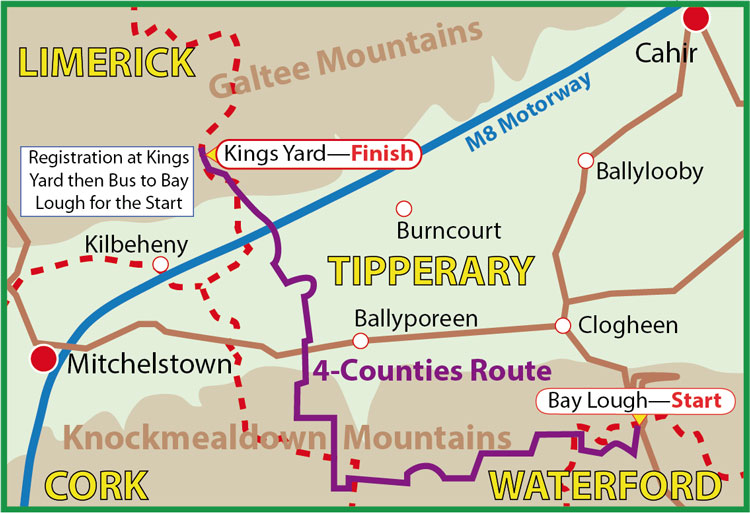 4 County Challenge Map