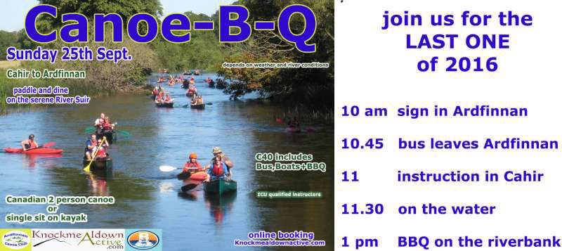 Canoe B Q - Sunday September 25th 2016