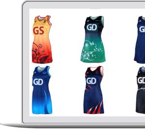 custom netball dress and bib