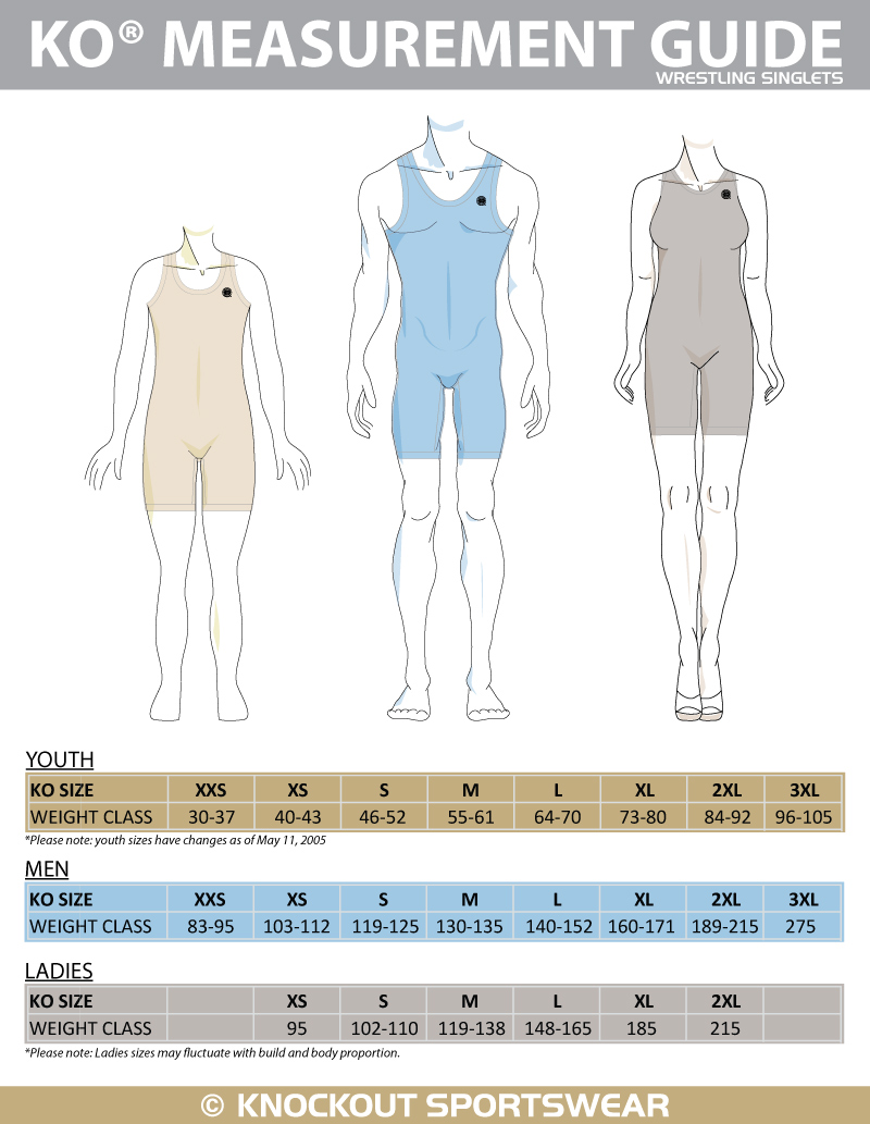 Knockout-Sportswear-sublimated-wrestling-singlet-size-chart