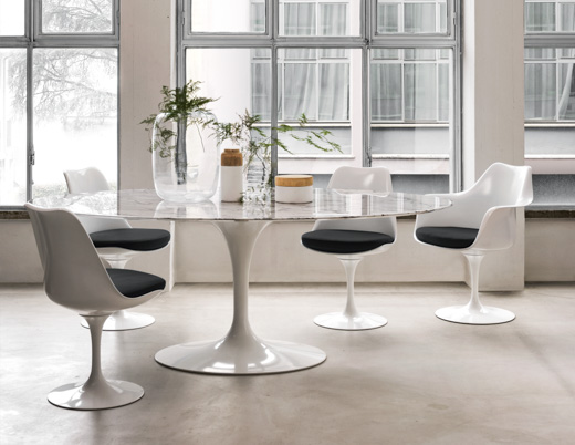 saarinen dining table dining area dining room classics knollstudio residential residence home coverings marble