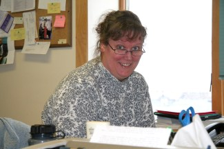 Lynette in the business office