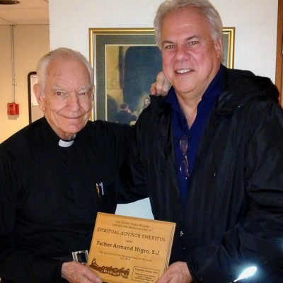 Ric with Father Armand