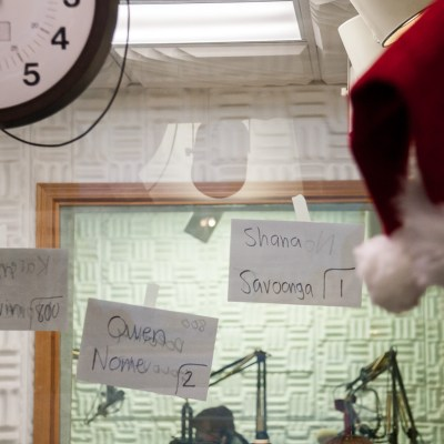 During our Christmas call-in show