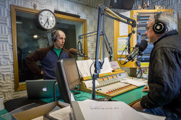 Paul and Ric, on air during an Iditarod Update