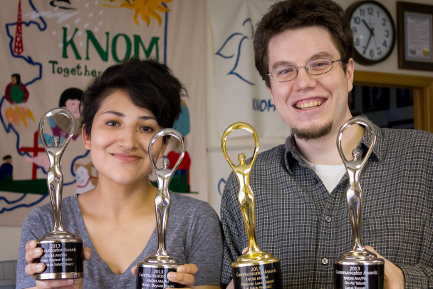 Dayneé and Lucus with Communicator Awards
