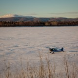 Bush plane on the frozen Yukon