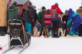 """Joar immediately abandoned his sled to award his dogs, offering them treats out of a bag labeled """"Lamb."""""""