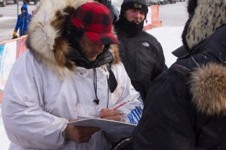 Officially signed in, Martin Buser is the 6th finisher for Iditarod 2014.
