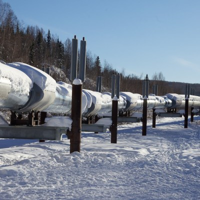 The Alaska oil pipeline, just north of Fairbanks, taken Feb. 25, 2013. Photo: Malcolm Manners via Flickr Creative Commons.
