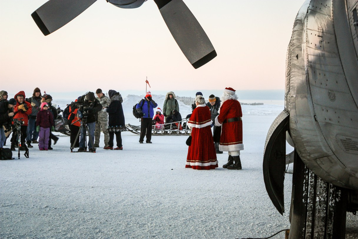 Mr. and Mrs. Claus in Shishmaref, Alaska