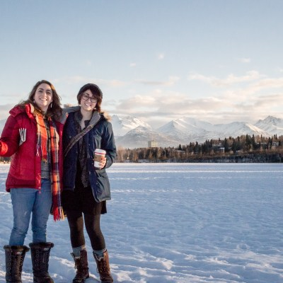 Francesca and Jenn in Anchorage