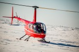 Helicopter on the sea ice at Nome-Golovin 2015