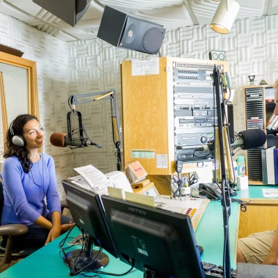 Margaret and Josh in Studio A