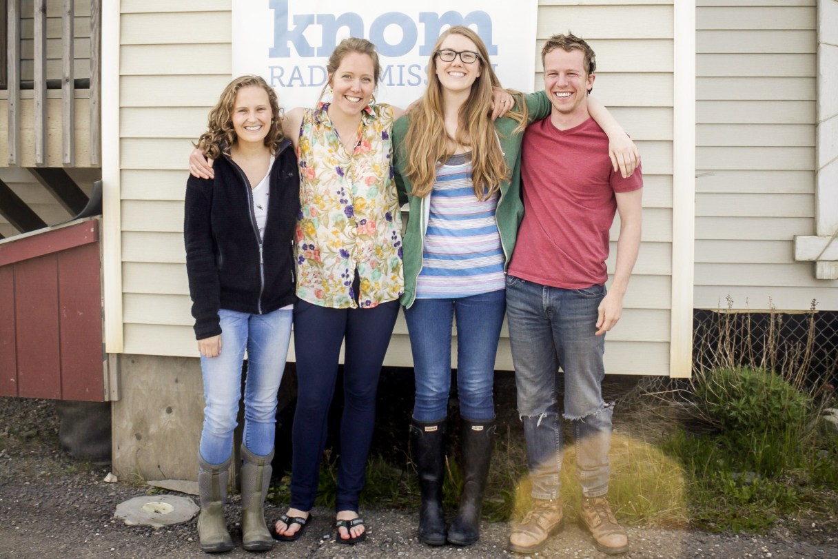 Our 2015-2016 volunteers: Maddie Winchester, Emily Russell, Laura Kraegel, and Mitch Borden.