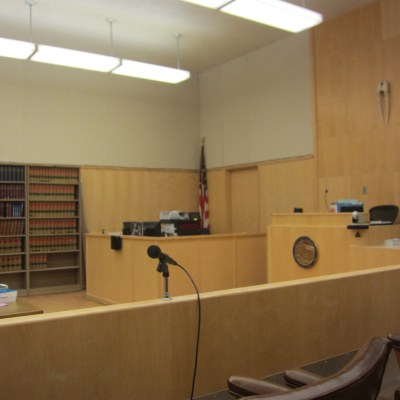 Nome Superior Courtroom. Photo Credit: Davis Hovey, KNOM (2017).