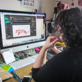 Vanessa Sweet working on animation