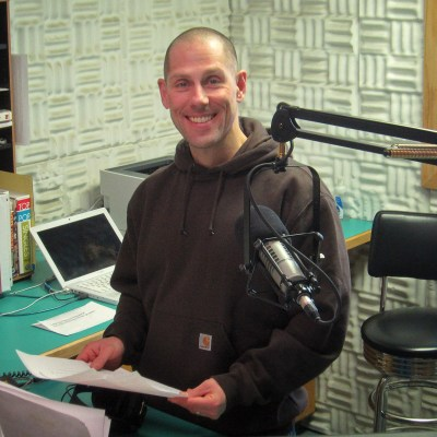 Paul Korchin inside KNOM's Studio A.