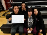 Frank Myomick, Alvin Washington, and Ryleigh Elachik were the three Youth Leaders from St. Michael School who attended the retreat along with their sponsor, Pauline Richardson. In the Unalakleet school gym they shared their ideas for ways to strengthen their community.