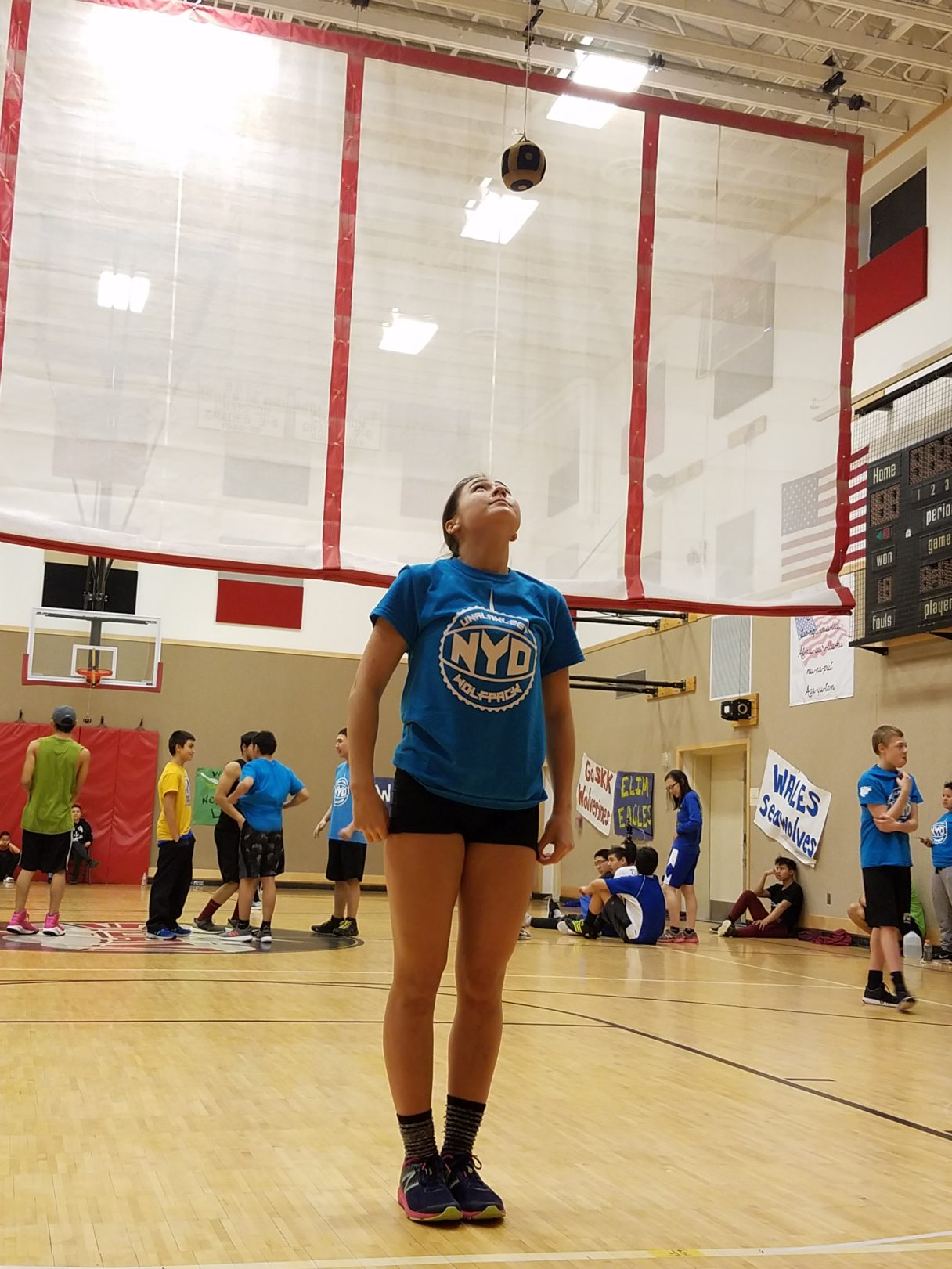 Allie Ivanoff eyes the Canadian One-foot High Kick target at the 2018 BSSD NYO, held in St. Michael.