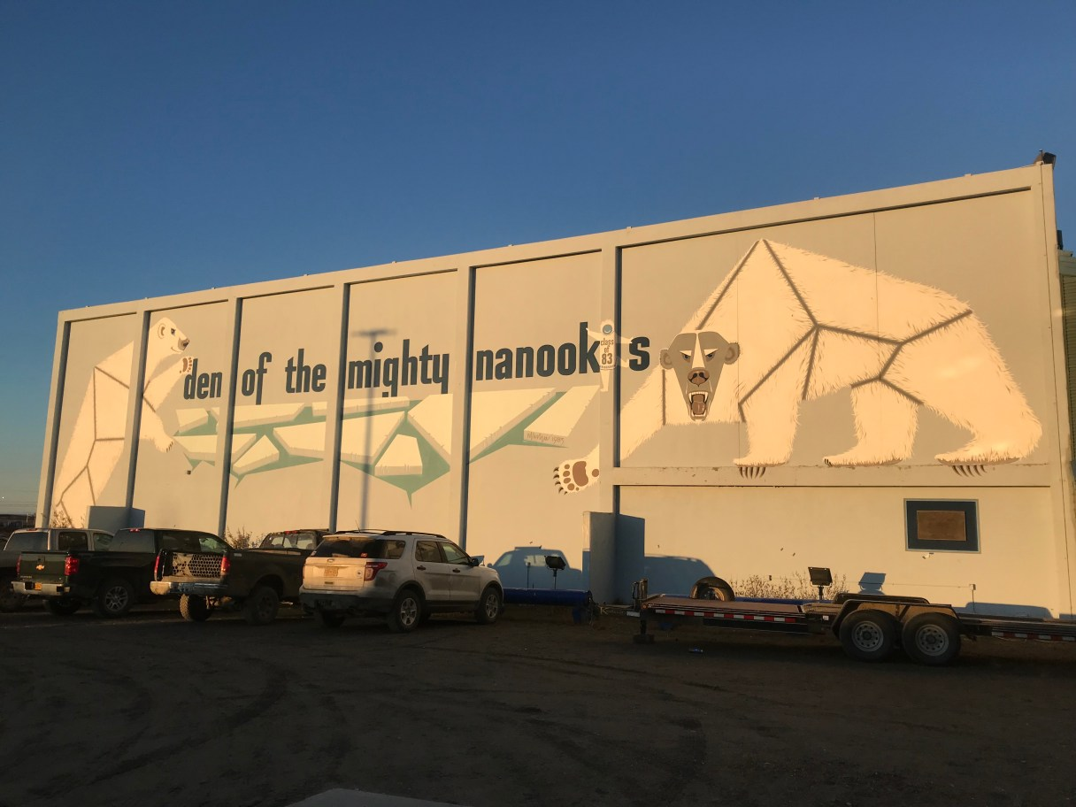 "Nome Beltz High School ""den of the mighty nanooks"""