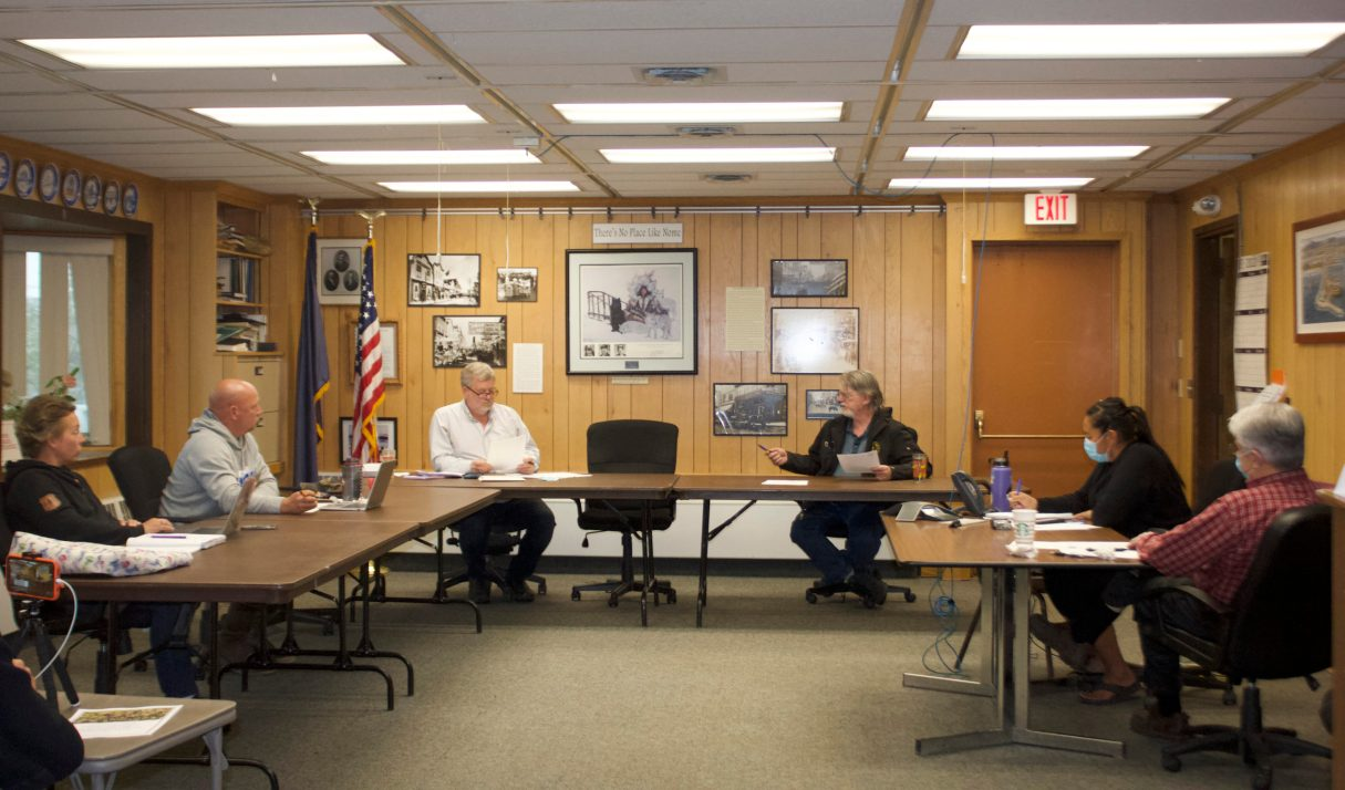 Nome City Council During Regular Meeting in August, 2020 (Photo from Emily Hofstaedter, KNOM)
