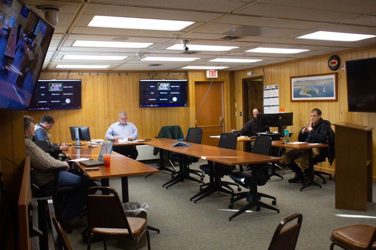Nome City Council meets to discuss regular business including elections and public comments. Photo by KNOM.