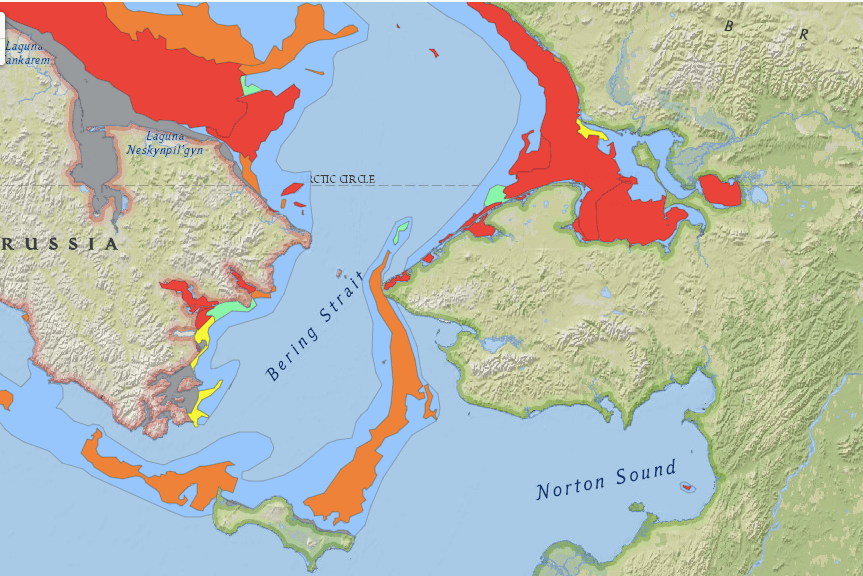 Sea Ice Coverage as of June 17th, 2021. Photo by National Weather Service.