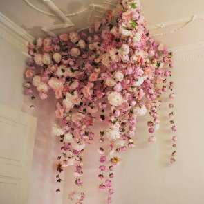 Unique and beautiful floral chandeliers for wedding inspiration and inspiration for an alternative pink floral chandelier and installation aloadofball Gallery