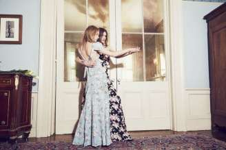 For the fashionable bridesmaids, Reformation bridal style