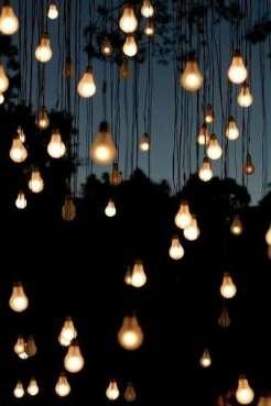 Nude bulb hanging lights