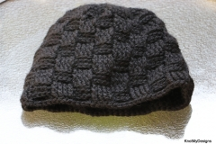 Black Basketweave Beanie