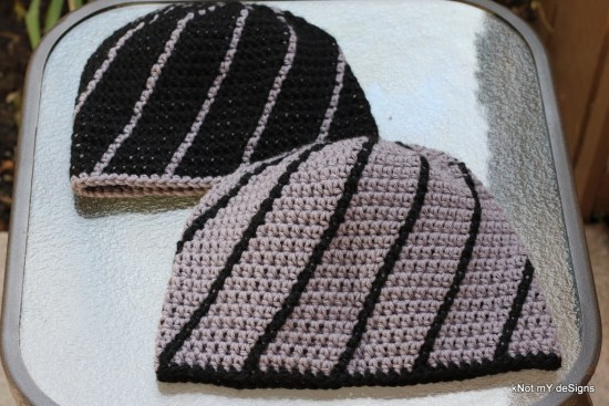 Winter/Fall Seasoned Crochet Spiral Dad-Son Beanie Free Pattern for your family - kNot mY deSigns