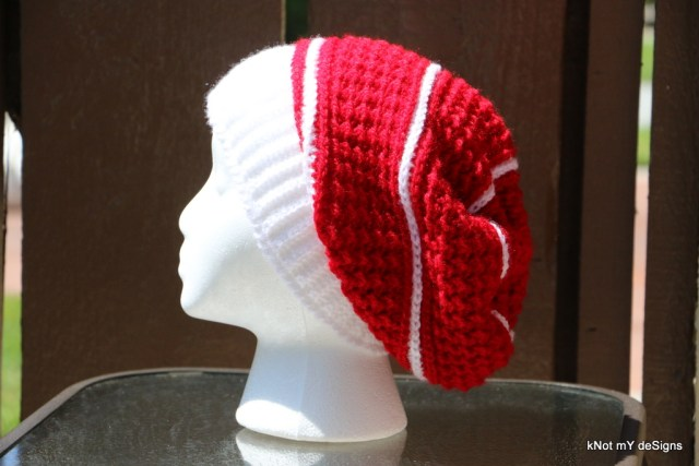 Crochet Christy Moss Slouch Hat free pattern for an adult woman - Knot My Designs