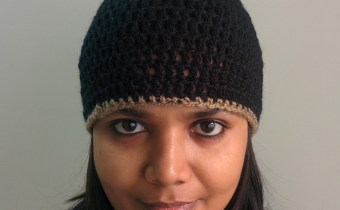 Winter/Fall Seasoned Crochet Basic Black Beanie Free Pattern for any adult - Knot My Designs