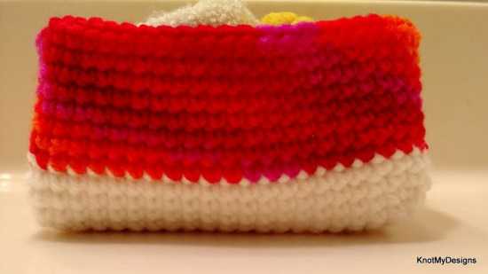 Crochet Circular Accessories/Gadget Container/Basket/Organizer for drawers , Knot My Designs
