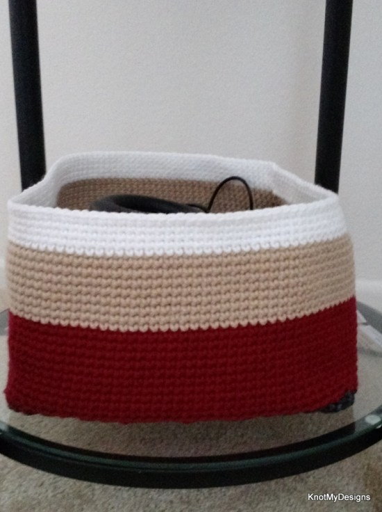 Crochet Accessories/Gadget Container/Basket/Organizer for drawers , Knot My Designs