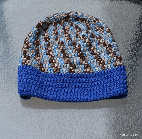 Winter/Fall Seasoned Crochet Earthy Sky Beanie Free Pattern for an adult woman - kNot mY deSigns