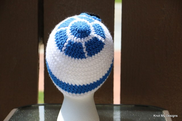 Crochet Toddler Star Wars R2D2 Beanie Free Pattern - kNot mY deSigns