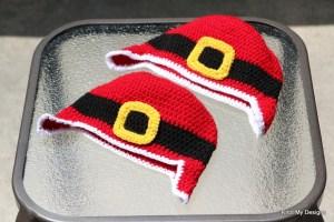 Crochet Free Santa Santa Earflap Hat for Toddler - Knot My Designs