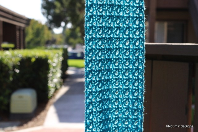 Winter/ Fall Seasoned Crochet Mishmash Minted Scarf Free Pattern for an Adult Woman - kNot mY deSigns