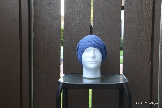 Winter/Fall/Spring Seasoned Crochet Men's Slouch Beanie Free Pattern - Knot My Designs