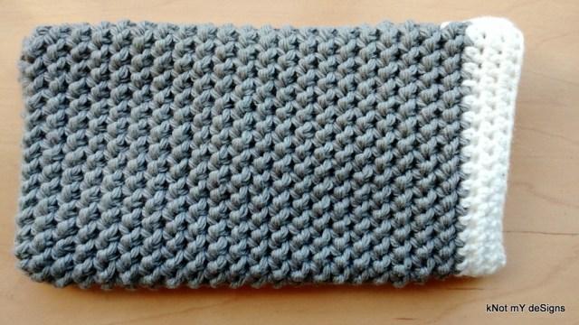 Crochet Half Herringbone Cell Phone Wristlet Pouch Free Pattern - Knot My Designs