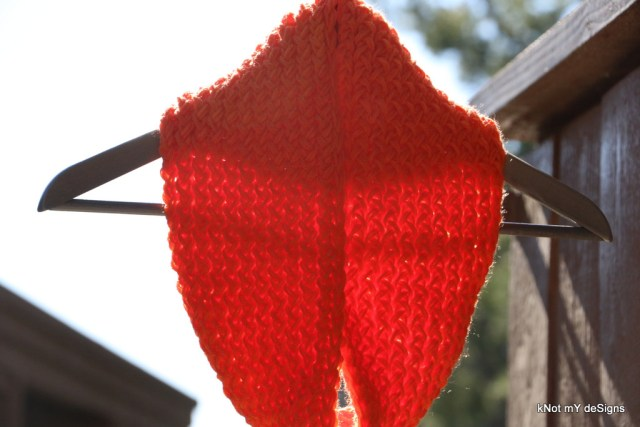 Winter/Fall Seasoned Crochet Pumpkin Loom Knit Cowl for an adult woman - kNot mY deSigns
