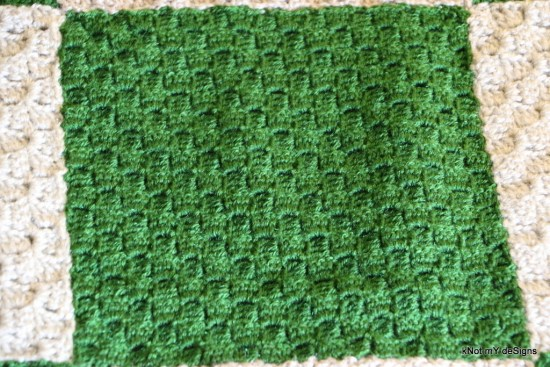 Crochet C2C Checkered Lap Blanket - Knot My Designs