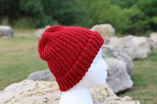 Loom Knit Beanie - Knot My Designs