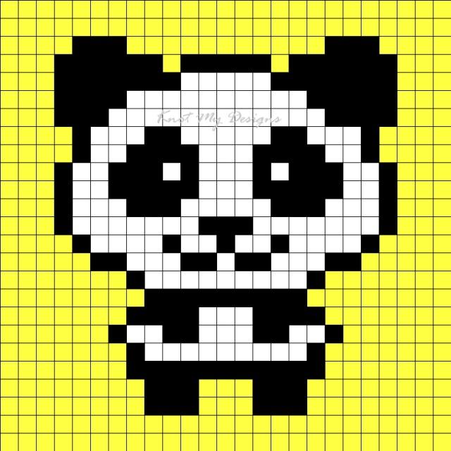 Crochet C2C Panda Monkey Baby Blanket - Knot My Designs